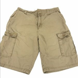 Airwalk Tan 7 Pocket Cargo Shorts, Size 32
